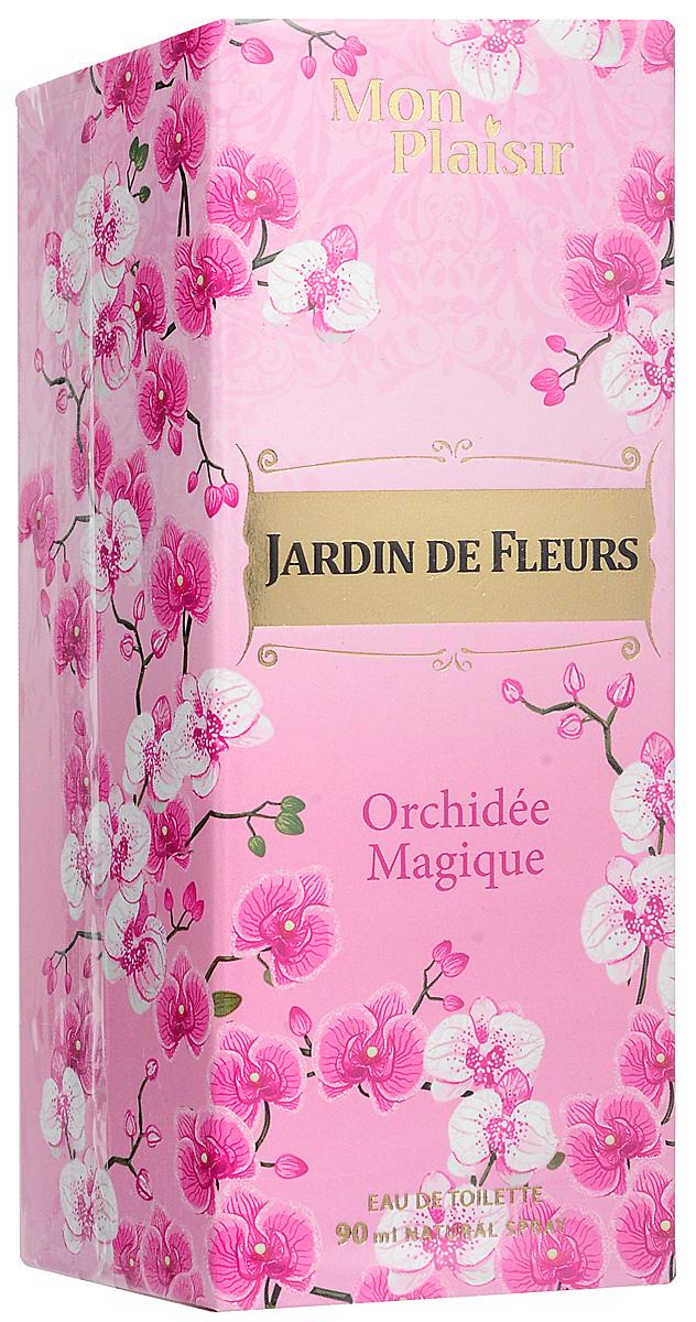 Mon Plaisir Jardin de Fleurs Orchidee Magique туалетная вода, 90 мл2001011983Аромат Jardin De Fleurs Orchidee Magique – это удивительное украшение, чарующее своим магнетизмом. Дивная орхидея интригует, окружает неповторимым шармом, позволяя почувствовать себя восхитительно женственной. Открывают композицию ноты бергамота, мандарина и яблока. Ноты жасмина, фрезии и апельсинового цвета окутывают волнительной мелодией, завершающейся шлейфом из аккорда кедра, мускуса, ванили и гелиотропа.