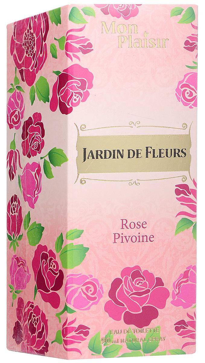 Mon Plaisir Jardin de Fleurs Rose Pivoine туалетная вода, 90 мл2001011981Прекрасный, невероятно пленительный аромат Jardin De Fleurs Rose Pivoine обволакивает чувственной дымкой неизведанного…С ароматом Jardin De Fleurs Rose Pivoine открывается новая глава таинственного обольщения. Цветочный аромат открывается нотами мягкого персика и груши, которые уступают созвучию жасмина, розовой розы и фрезии. Аккорды сандала, мускуса и амбры оставляют тонкий шлейф, подчеркивая характер этого аромата.