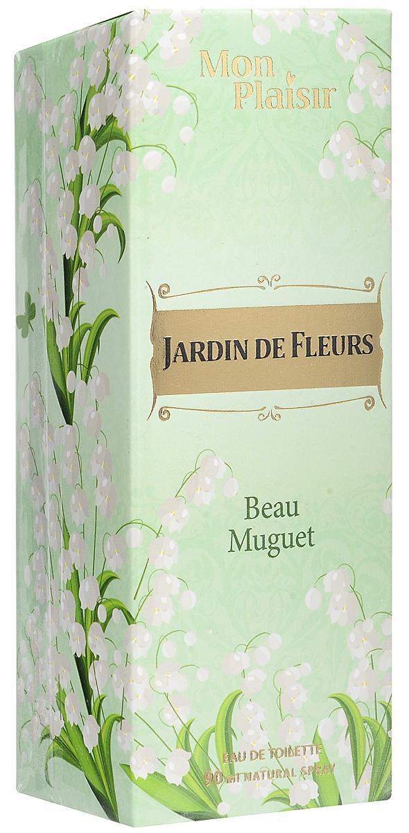 Mon Plaisir Jardin de Fleurs Beau Muguet туалетная вода, 90 мл2001011977Утонченный и чистый аромат Jardin De Fleurs Beau Muguet, словно легкое прикосновение весны приветствует свою обладательницу. Аромат Jardin De Fleurs Beau Muguet подчеркнет притягательность загадочной натуры. Сначала, играючи, обволакивают нотки мандарина и бергамота, затем слышится та самая, нежная, очаровательная симфония ландыша в обрамлении гардении и пиона. Завершают композицию нотки ванили, амбры и мускуса.Краткий гид по парфюмерии: виды, ноты, ароматы, советы по выбору. Статья OZON Гид