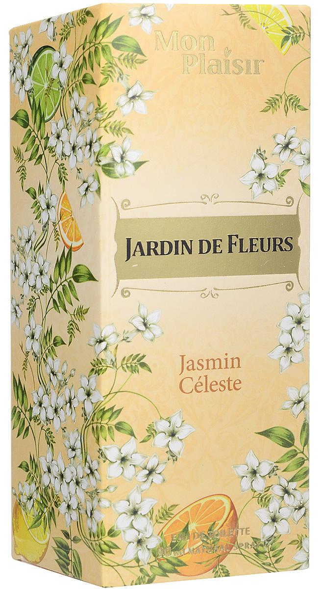 Mon Plaisir Jardin de Fleurs Jasmin Celeste туалетная вода, 90 мл2001011979Мерцает, переливается солнечными оттенками аромат Jardin De Fleurs Jasmin Celeste. Он непременно подарит яркие эмоции и игривое настроение!Первым аккордом вступают нотки цитрусовых, создавая настроение сверкать и притягивать взгляды. В сердце аромата раскрываются нотки розы и ландыша, которые мягко обрамляют чарующий, томный жасмин. Шлейф аромата представлен созвучием амбры, мускуса и малины.Краткий гид по парфюмерии: виды, ноты, ароматы, советы по выбору. Статья OZON Гид
