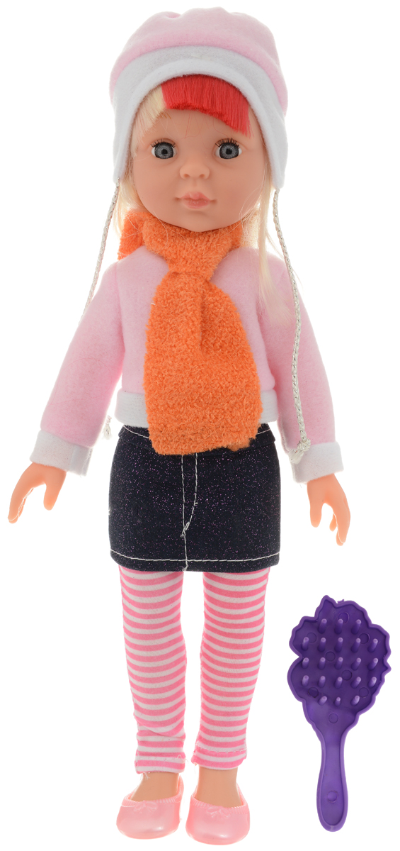 купить кофту теплую для девочки ABtoys Кукла Времена года цвет наряда розовый темно-синий
