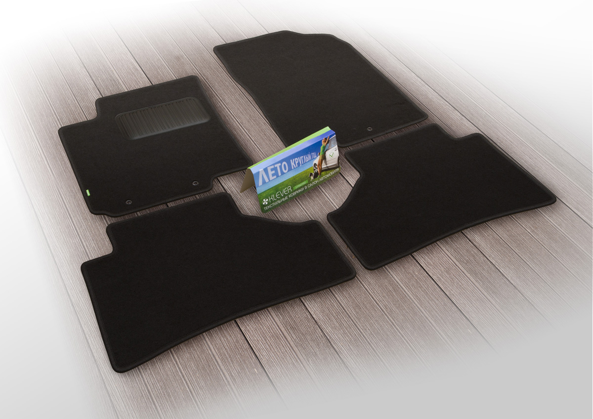 Коврики в салон автомобиля Klever Standard, для HYUNDAI Solaris 2017->, сед., 4 штKLEVER02206101210khТекстильные коврики Klever можно эксплуатировать круглый год: с ними комфортно в теплое время и практично в слякоть. Текстильные коврики Klever - оптимальная по соотношению цена/качество продукция. Текстильные коврики Klever эффективно задерживают грязь и влагу благодаря основе.• Выпускаются три варианта: эконом, стандарт и премиум. • Изготавливаются индивидуально для каждой модели автомобиля.• Шьются из ковролина ведущего европейского производителя.• Легко чистятся пылесосом и щеткой. • Комплектуются фиксаторами для надежного крепления к полу автомобиля. •Предусмотрен полиуретановый подпятник на водительском коврике.Уважаемые клиенты, обращаем ваше внимание, что фотографии на коврики универсальные и не отражают реальную форму изделия. При этом само изделие идет точно под размер указанного автомобиля.