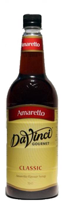 DaVinci Амаретто сироп, 1 л20393705Сироп Da Vinci Amaretto - безалкогольный вариант именитого итальянского миндального ликера из Саронно. Сладкий деликатес изготавливается из экологически чистого сырья, поэтому его качество находится на высшем уровне. Сироп Да Винчи Амаретто производится в соответствии с международными стандартами. Чашечка горячего кофе с этим лакомством будет роскошно пахнуть, к тому же, придаст больше бодрости и сил. В аромате превосходного сиропа отчетливо чувствуются насыщенный вкус миндаля, а во вкусе - нотки абрикосовых и миндальных косточек. Сироп Da Vinci Amaretto - идеальная приправа для кофе, чая или других напитков. Напиток разливается в пластиковые бутылки, которые надолго сохраняют сладкий ингредиент.