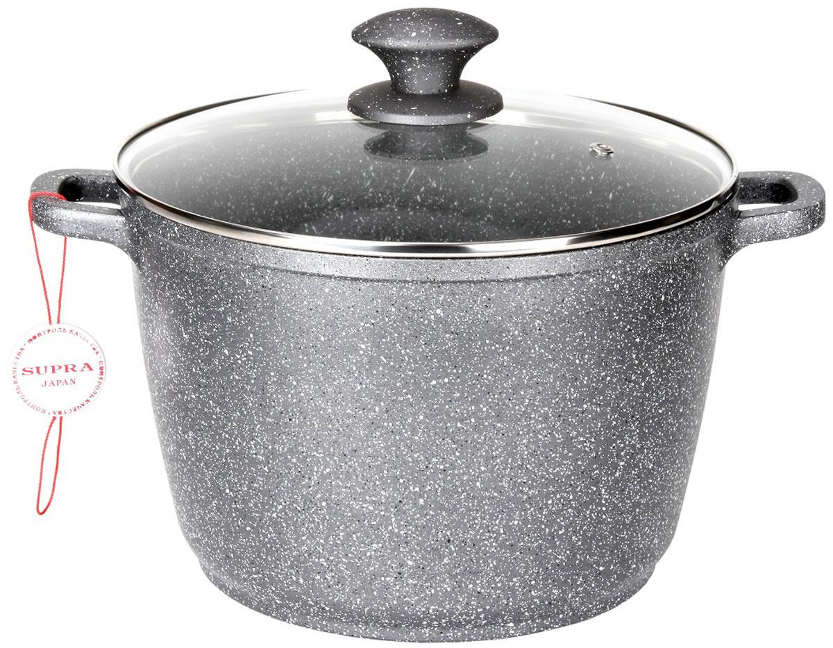 Кастрюля-казан  Supra  с крышкой, с антипригарным покрытием, 6,2 л - Посуда для приготовления