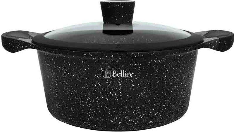 Кастрюля Bollire Milano, с крышкой, с антипригарным покрытием, 2,4 лBR-1102 мягкая ручка и кнопка на крышке полностью индукционное дно не требует большого количества масла