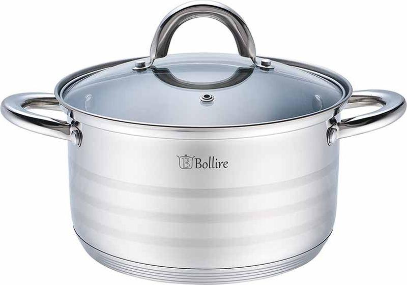 Кастрюля Bollire с крышкой, 5,2 л. BR-2004 сковорода bollire br 1005 venezia
