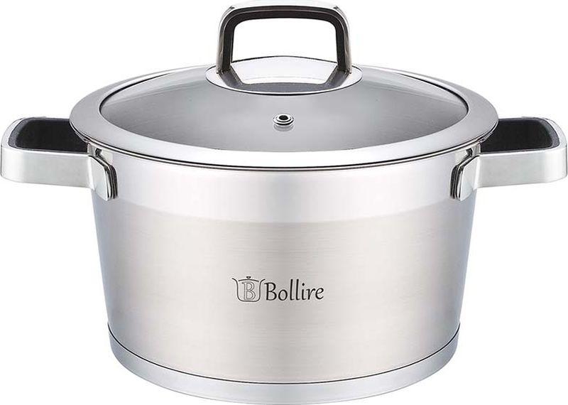 Кастрюля Bollire, с крышкой, 5,2 л. BR-2104 сковорода bollire br 1005 venezia