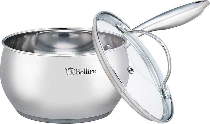 Ковш Bollire, с крышкой, 1,7 лBR-2201 округлая форма, закругленная кромка, индукционное дно, металлические ручки на заклепках, внутри и снаружи зеркальная полировка, внутри выгравированная шкала