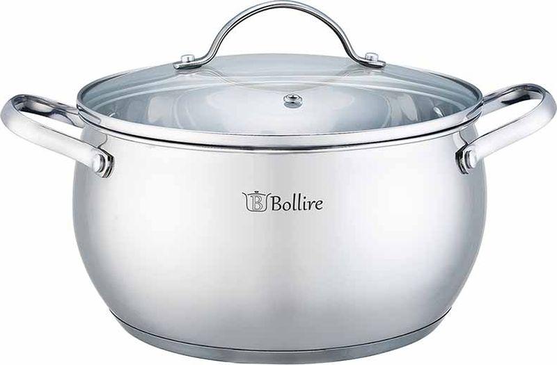 Кастрюля Bollire, с крышкой, 2,3 л. BR-2202 сковорода bollire br 1005 venezia