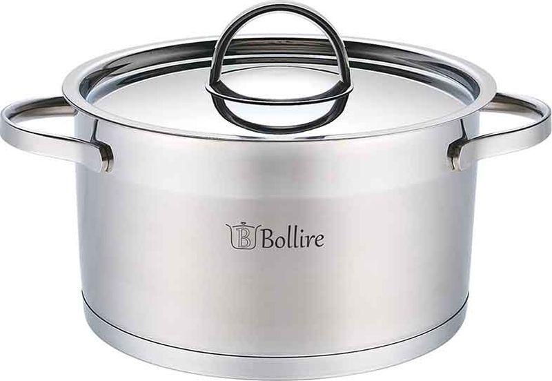 Кастрюля Bollire, с крышкой, 3,4 лBR-2303Кастрюля Bollire изготовлена из высококачественной нержавеющей стали. Кастрюля имеет трехслойное дно, которое позволяет использовать ее на всех типах плит, включая индукционные. Она оснащена двумя удобными ручками.Стальная крышка плотно прилегает к краю кастрюли, сохраняя аромат блюд.