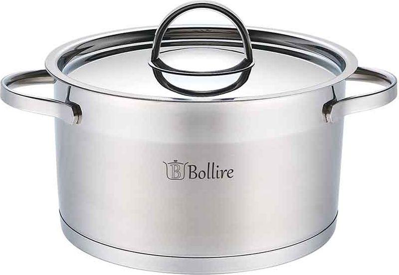 Кастрюля Bollire, с крышкой, 5,5 лBR-2304Кастрюля Bollire изготовлена из высококачественной нержавеющей стали. Кастрюля имеет трехслойное дно, которое позволяет использовать ее на всех типах плит, включая индукционные. Она оснащена двумя удобными ручками. Стальная крышка плотно прилегает к краю кастрюли, сохраняя аромат блюд.