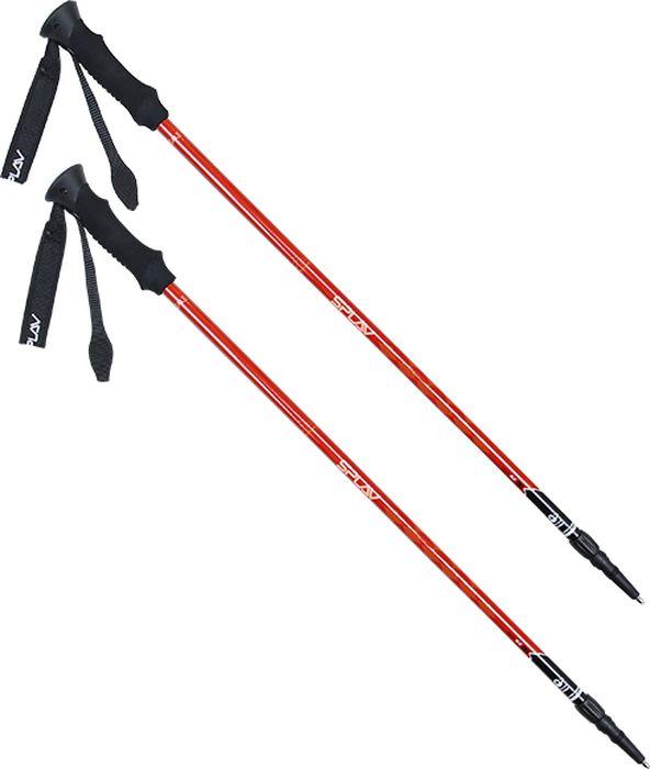 Палки для трекинга Сплав Hiking Alu v.2, цвет: красный, 83-142 см, 2 шт5108111Прочные и легкие 2-х секционные палки Сплав Hiking Alu v.2 с системой регулировки длины Twist Lock.Правильное использование треккинговых палок выравнивает дыхание и улучшает устойчивостьТреккинговые палки разгружают мышцы и суставы, за счёт этого возможно увеличивать пройденную дистанцию за деньСистема фиксации Twist Lock. Регулировка длины палки бесступенчатая, производится осевым вращением секций и их последующим перемещением наружу или внутрьРекомендуется при ходьбе с палками держать локти ближе к телу и не отставлять концы палок далеко от ногБлагодаря 2-х секционной конструкции палка имеет более легкий вес и повышенную прочностьНаконечник палки из твердосплавного материалаЭргономичные ручки обеспечивают надежный захват и удобное положение запястьяРегулируемый ремешок на руку из неопрена передает часть нагрузки, разгружая кистьВ комплекте:Сменное кольцо для мягкой или сыпучей поверхностиСменное кольцо для использования на снегуРезиновая противоскользящая насадкаПолезные советы:Плоскость: При прямом положении тела угол между предплечьем и плечом руки, держащей палку, должен составлять примерно 90°Наклон: Удлините палку, находящуюся на склоне, сократите на возвышенностиПодъем: Сократите палки для переноса части веса на рукиСпуск: Удлините палки для эффективной разгрузки коленных суставов и мышц ногДиаметр трубок 16-14 ммДлина в сложенном виде: 83 смМаксимальная длина: 142 смВес 1 палки: 227 гВес большого кольца: 15 гВес малого кольца: 7 гВес наконечника: 12 г