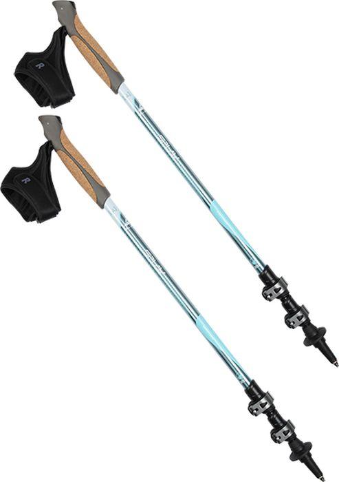 Палки для трекинга Сплав  Nordic Alu , цвет: голубой, 65-135 см, 2 шт - Палки для трекинга