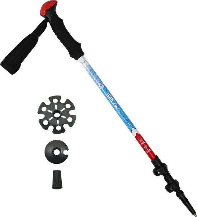 Палки для трекинга Сплав  Mountain Photo Alu , цвет: голубой, 65-135 см, 1 шт - Палки для трекинга