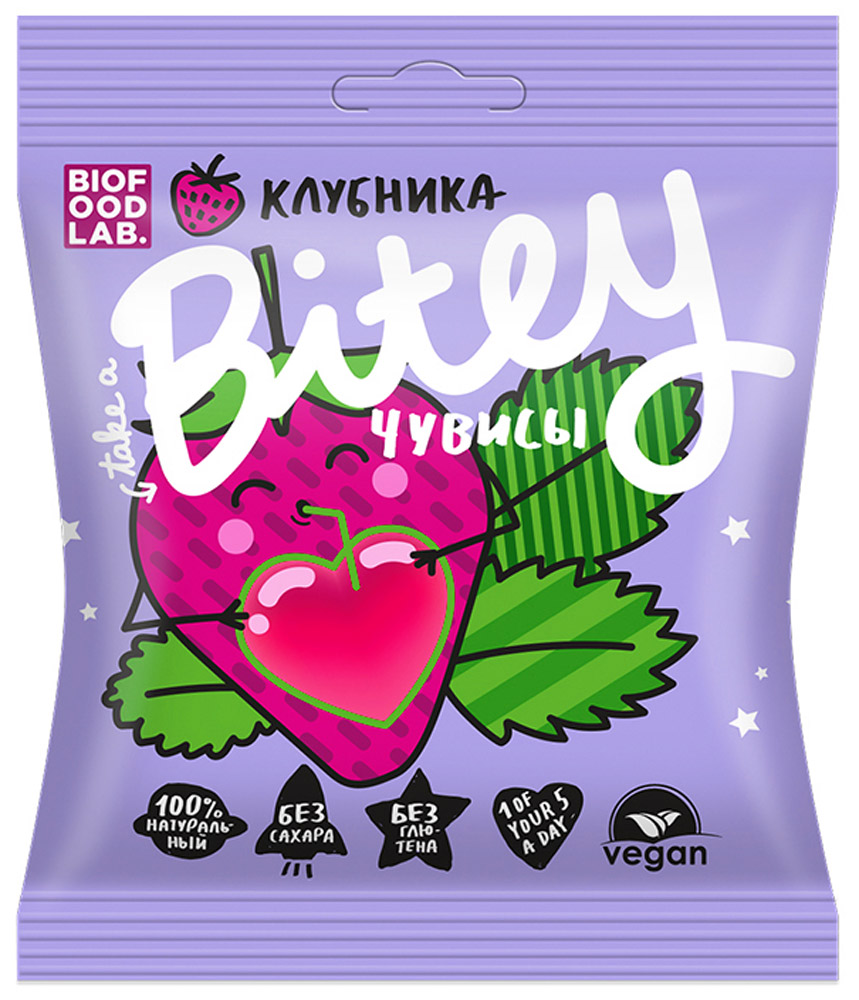 Take A Bitey чувисы клубника мармелад, 20 г take a bite slim unicorn мармелад чувисы клубника 20 г