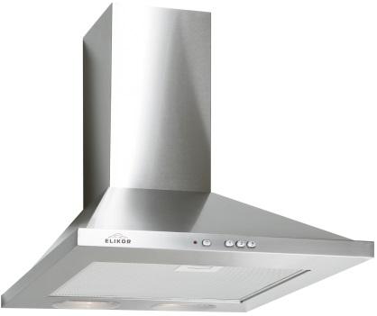 Elikor Оптима 60Н-400-К3Л, Steel вытяжка каминнаяКВ II М-400-60-266Вытяжка Elikor Оптима 60Н-400-К3Л имеет классическую форму, благодаря которой она впишется в интерьер любой кухни. Цветовое исполнение купола вытяжки позволяет ей отлично сочетаться с другой бытовой техникой на вашей кухне. 2 лампы освещают варочную поверхность. Мощность регулируется.Для работы вытяжки в режиме рециркуляции необходимо использовать угольный фильтр Ф-05, который приобретается дополнительно.