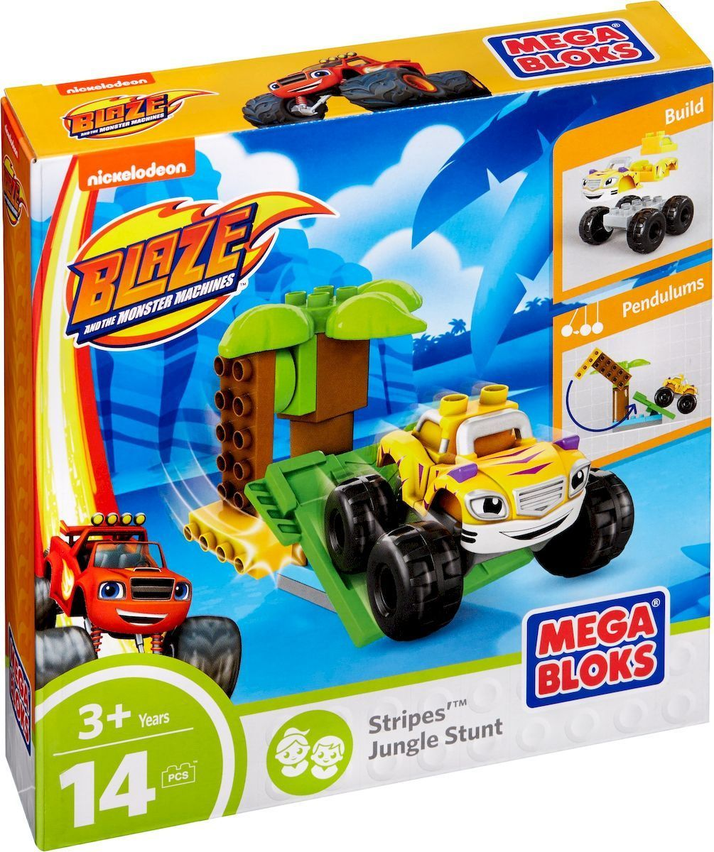 Mega Bloks Вспыш Конструктор Stripes Jungle Stunt ёршик для туалета tatkraft mega lock