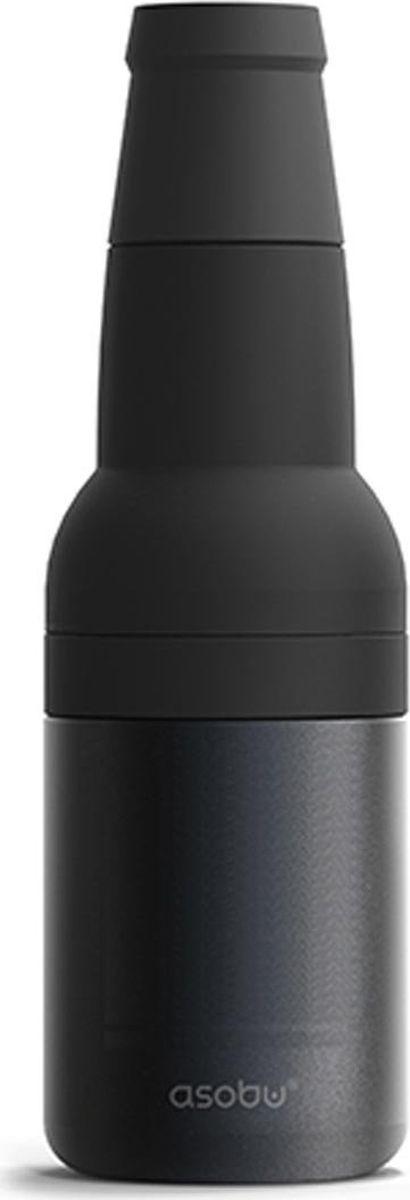 Термоконтейнер для банок и бутылок Asobu Frosty To 2 Go Chiller, цвет: черный термоконтейнер для банок и бутылок asobu frosty to 2 go chiller цвет черный