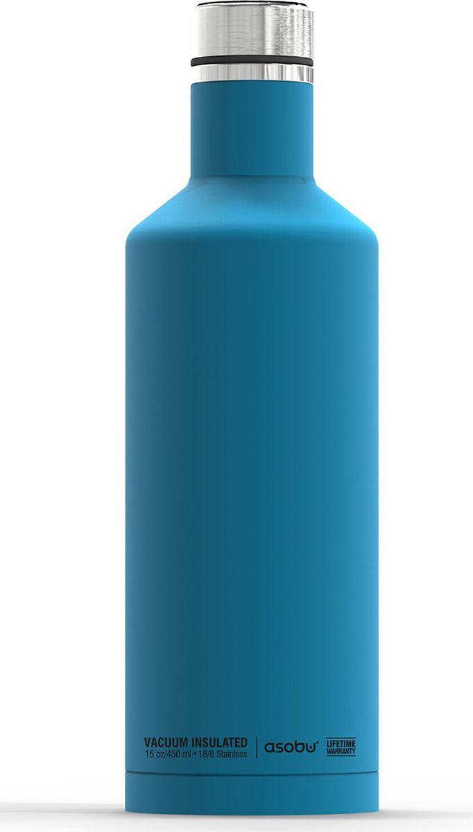 Термобутылка Asobu Times Square Travel Bottle, цвет: голубой, 450 млSBV15 blueТермобутылка Asobu Times Square Travel Bottle обладает свойфтвомдолговечности, гладкое матовое покрытие выгодно выделяют эту термобутылку для напитков среди других. Строгая обтекаемая форма позволяет легко уложить термобутылку в Ваш багаж, ручную кладь или рюкзак. Times Square Travel Bottle, объемом 450мл., идеально вписывается во все стандартные подстаканники. Прочные двойные стенки из нержавеющей стали с вакуумной изоляцией гарантируют, что ваш напиток останется холодным в течение 24 часов, и горячим до 8 часов. Заявите о себе в офисе, в школе или на работе с Times square travel bottle - термобутылкой для путешествий первого класса! Держит тепло: 8 часовДержит холод: 24 часаВысота: 23,5 смДиаметр: 7,5 см