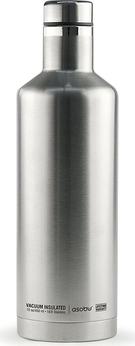 Термобутылка Asobu Times Square Travel Bottle, цвет: стальной, 450 млSBV15 silverТермобутылка Asobu Times Square Travel Bottle обладает свойфтвомдолговечности, гладкое матовое покрытие выгодно выделяют эту термобутылку для напитков среди других. Строгая обтекаемая форма позволяет легко уложить термобутылку в Ваш багаж, ручную кладь или рюкзак. Times Square Travel Bottle, объемом 450мл., идеально вписывается во все стандартные подстаканники. Прочные двойные стенки из нержавеющей стали с вакуумной изоляцией гарантируют, что ваш напиток останется холодным в течение 24 часов, и горячим до 8 часов. Заявите о себе в офисе, в школе или на работе с Times square travel bottle - термобутылкой для путешествий первого класса! Держит тепло: 8 часовДержит холод: 24 часаВысота: 23,5 смДиаметр: 7,5 см