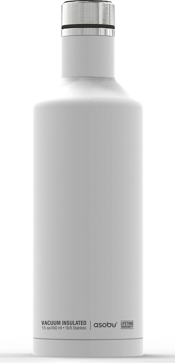 Термобутылка Asobu Times Square Travel Bottle, цвет: белый, 450 млSBV15 whiteТермобутылка Asobu Times Square Travel Bottle обладает свойфтвомдолговечности, гладкое матовое покрытие выгодно выделяют эту термобутылку для напитков среди других. Строгая обтекаемая форма позволяет легко уложить термобутылку в Ваш багаж, ручную кладь или рюкзак. Times Square Travel Bottle, объемом 450мл., идеально вписывается во все стандартные подстаканники. Прочные двойные стенки из нержавеющей стали с вакуумной изоляцией гарантируют, что ваш напиток останется холодным в течение 24 часов, и горячим до 8 часов. Заявите о себе в офисе, в школе или на работе с Times square travel bottle - термобутылкой для путешествий первого класса! Держит тепло: 8 часовДержит холод: 24 часаВысота: 23,5 смДиаметр: 7,5 см