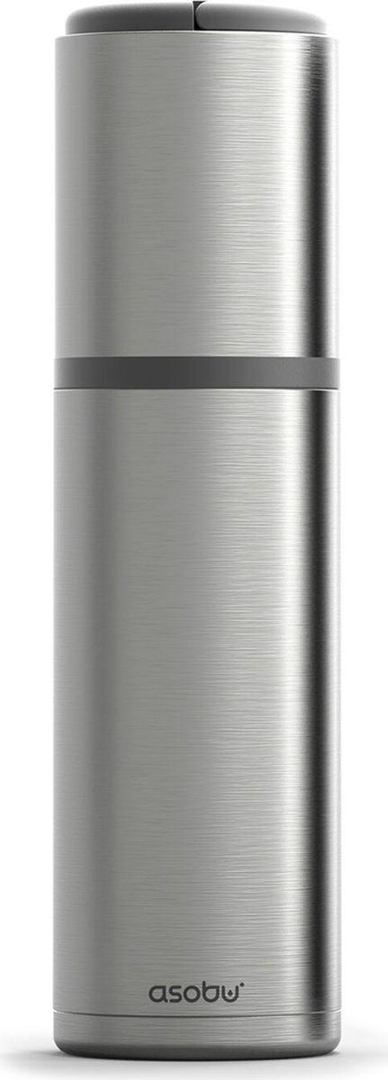 Термоконтейнер для вина Asobu Vin Blanc Portable Wine Chiller, цвет: стальной термоконтейнер для банок и бутылок asobu frosty to 2 go chiller цвет черный
