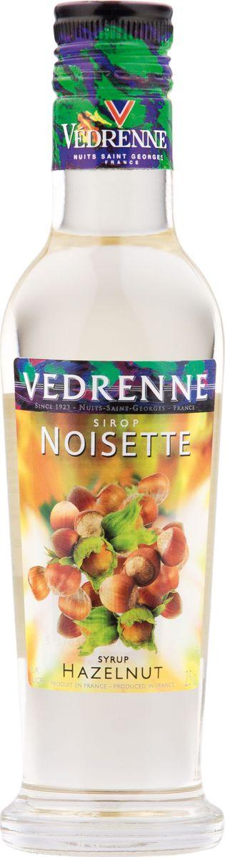 Vedrenne лесной орех сироп, 250 мл12129В настоящее время компания Vedrenne считается одним из лучших производителей высококлассных сиропов, отличающихся натуральным вкусом, а также насыщенным ароматом и глубоким цветом. Фруктовые сиропы Vedrenne пользуются большой популярностью не только во Франции (где их широко используют как в сегменте HoReCa, так и в домашних условиях), но и экспортируются более чем в 50 стран мира.Сиропы изготавливаются на основе натурального растительного сырья, фруктовых и ягодных соков прямого отжима, цитрусовых настоев, а также с использованием очищенной воды без вредных примесей, что позволяет выдержать все ценные и полезные свойства натуральных фруктово-ягодных плодов и трав. В состав сиропов входит только натуральный сахар, произведенный по традиционной технологии из сахарозы.Благодаря высокому содержанию концентрированного фруктового сока сиропы Vedrenne обладают изысканным ароматом и натуральным вкусом, являются эффективным подсластителем при незначительной калорийности. Они оптимизируют уровень влажности и процесс кристаллизации десертов, хорошо смешиваются с другими ингредиентами и способствуют улучшению вкусовых качеств напитков и десертов.Сиропы Vedrenne разливаются в стеклянные бутылки с яркими этикетками, на которых изображен фрукт, ягода или другой ингредиент, определяющий вкусовые оттенки того или иного продукта Vedrenne. Емкости с сиропами Vedrenne герметичны и поэтому не позволяют содержимому контактировать с микроорганизмами и другими губительными внешними воздействиями. Кроме того, стеклянные бутылки выглядят оригинально и стильно. Сироп Лесной Орех - добавка, которая создается в основном для кофейных напитков. Густая приятная консистенция даёт напиткам аромат орехов. Цвет: соломенный. Аромат: звучит теплыми, пряными нотами лесного ореха. Вкус: округлый, мягкий, сладкий с нотами фундука в мёде. Рецепт Волшебный Десерт Ингредиенты: • 30 мл сиропа Vedrenne Лесной Орех• 30 мл ликера айриш крим • 30 мл эспрессо • 1 шарик ваниль