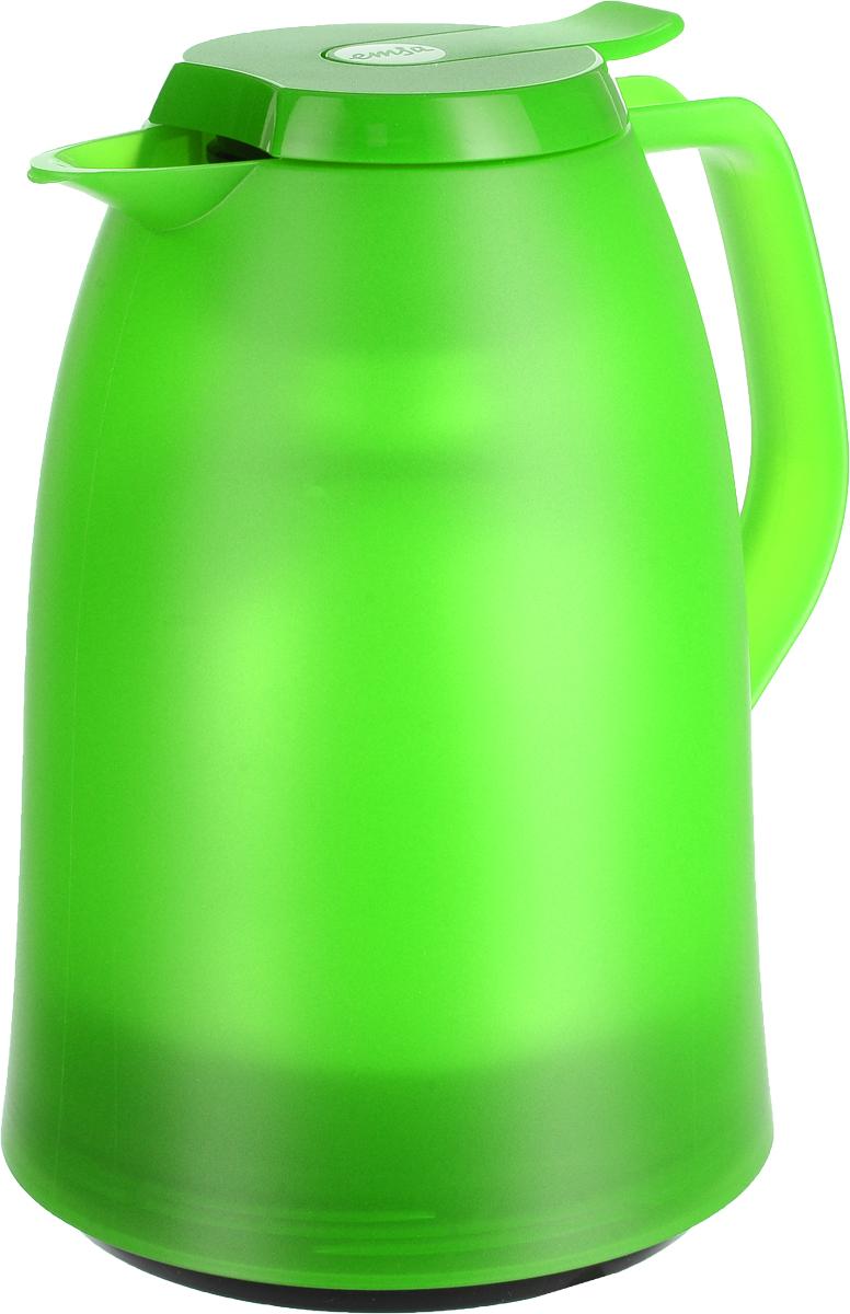 Термос-чайник Emsa Mambo, цвет: зеленый, 1 лBK-4127Термос-чайник Emsa Mambo позволит насладиться вашимлюбимым напитком, сохранив его аромат и вкус. Благодарястеклянной колбе напиток остается горячим 12 часов, ахолодным - 24 часа. Корпус выполнен из прочного пластика.Крышка плотно и герметично закрывается, а удобная ручкагарантирует безопасность во время использования. Чтобыналить напиток, крышку не нужно откручивать каждый раз, онаснабжена специальным клапаном, поэтому легко открываетсяодним нажатием кнопки. Специальный носик обеспечиваетудобный разлив напитка по порциям. Такой термос идеалендля перерыва на чай или кофе.Высота термоса: 21,5 см.Диаметр (по верхнему краю): 8,5 см. Диаметр горлышка: 4 см.