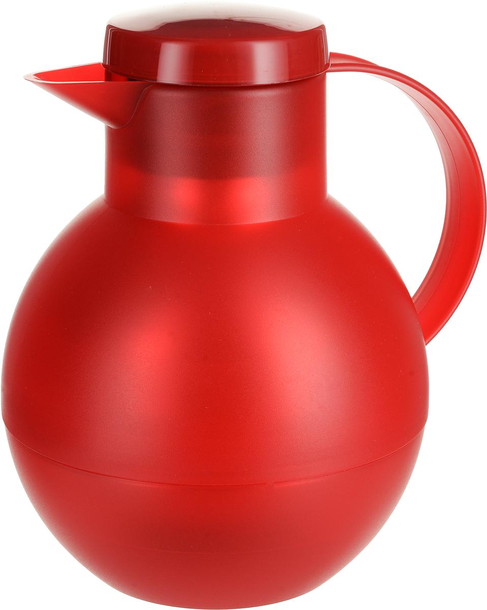 Термос-чайник Emsa Solera, цвет: красный, 1 л509155Термос-чайник Emsa Solera позволит насладиться вашим любимым напитком, где бы вы ни были. Благодаря стеклянной колбе напиток долгое время сохраняет свою температуру: остается горячим 12 часов, а холодным - 24 часа. Корпус выполнен из прочного пластика. Внутри предусмотрено специальное съемное ситечко для заварки, которое вставляется прямо в горлышко. Крышка плотно и герметично закрывается, а удобная ручка гарантирует безопасность во время использования. Специальный носик обеспечивает удобный разлив напитка по порциям. Такой термос идеален для перерыва на чай или кофе. Высота термоса: 22 см. Высота ситечка: 13 см. Диаметр (по верхнему краю): 8 см.