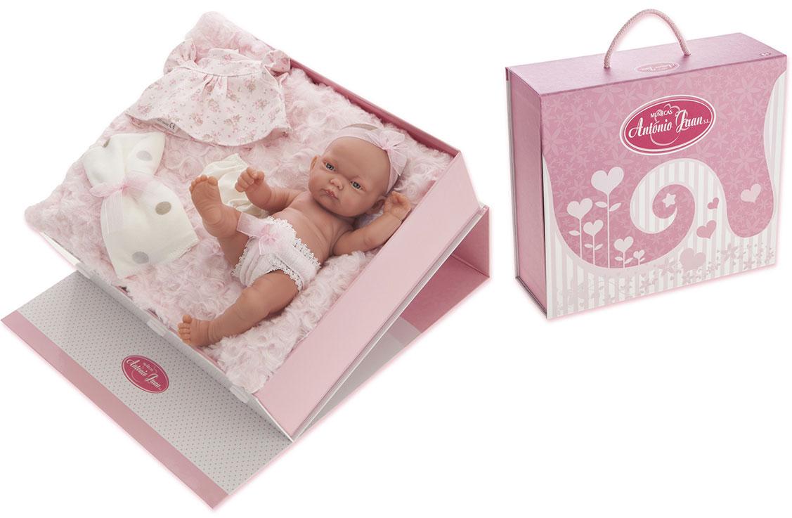 Juan Antonio Кукла-младенец Карла в чемодане цвет одежды розовый juan antonio кукла младенец карла в чемодане цвет одежды розовый