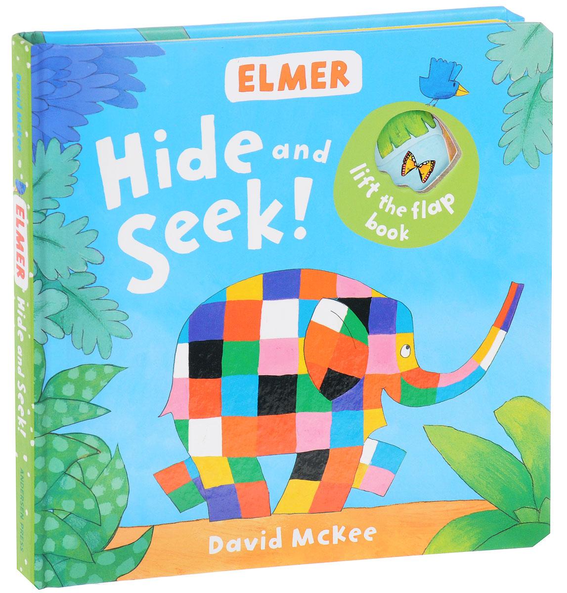 Hide and Seek! elmer in the snow