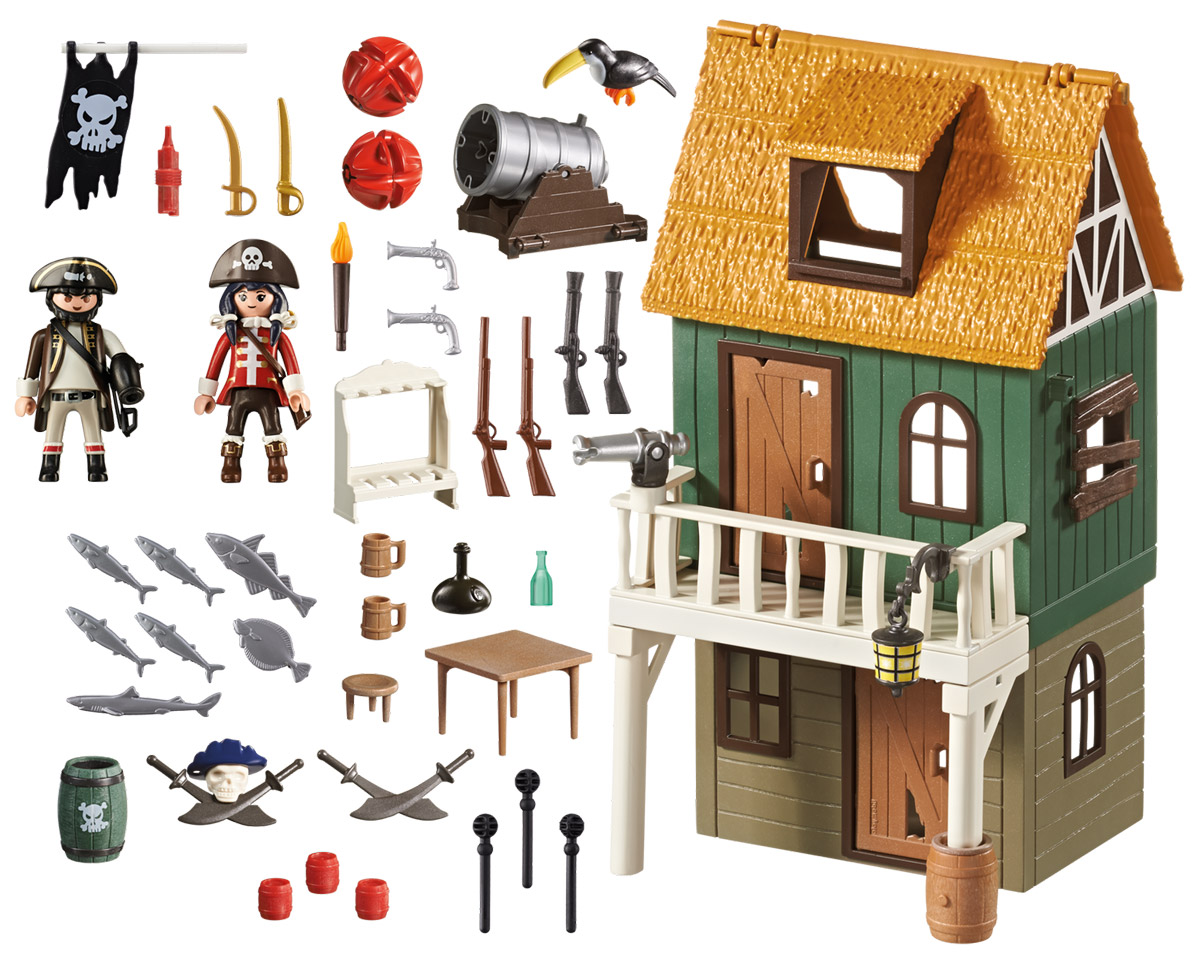 Playmobil Игровой набор Замаскированный пиратский форт с Руби playmobil игровой набор возьми с собой пиратский плот
