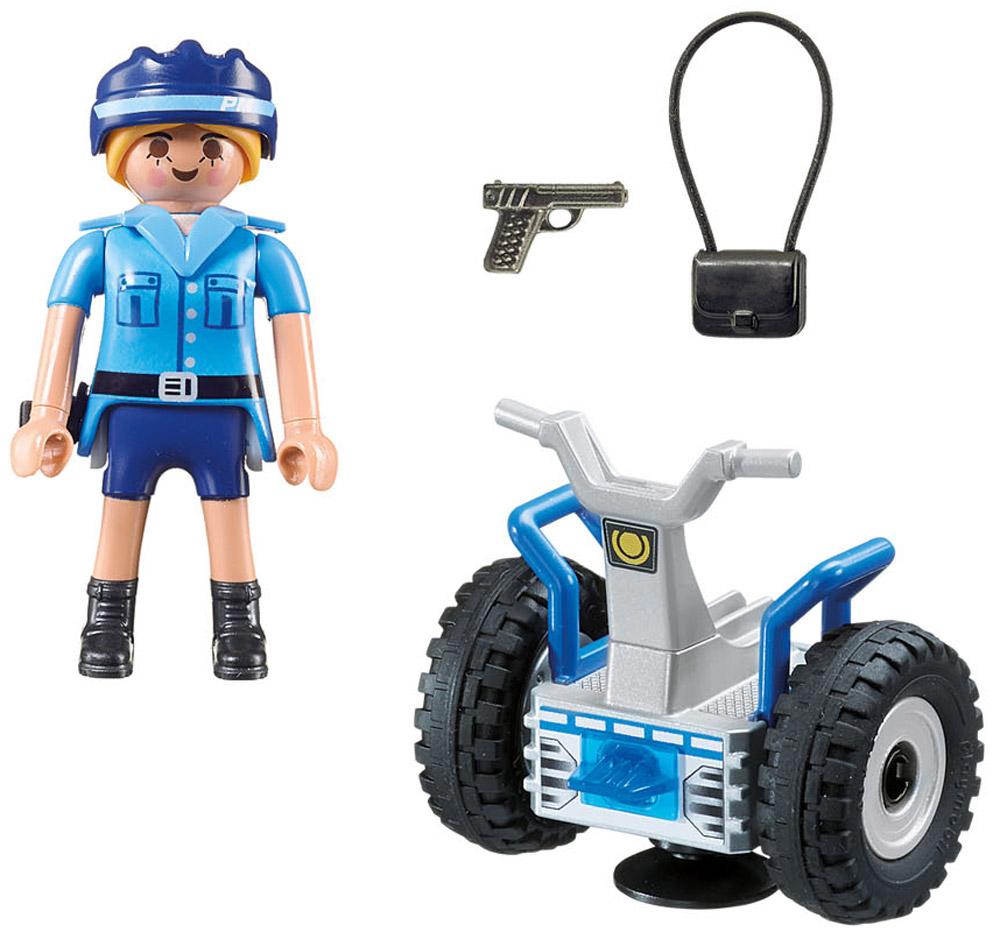 Playmobil Игровой набор Полиция Полицейский на балансирующей гоночной машине