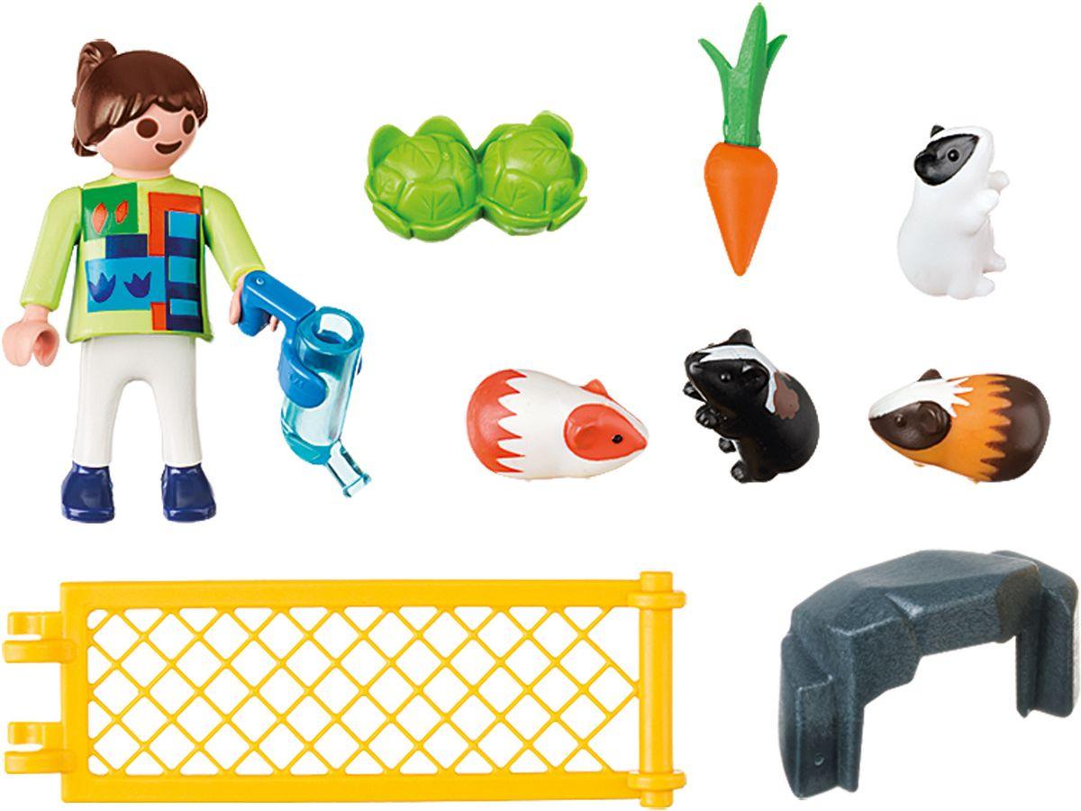 Playmobil Игровой набор Девочка с морскими свинками