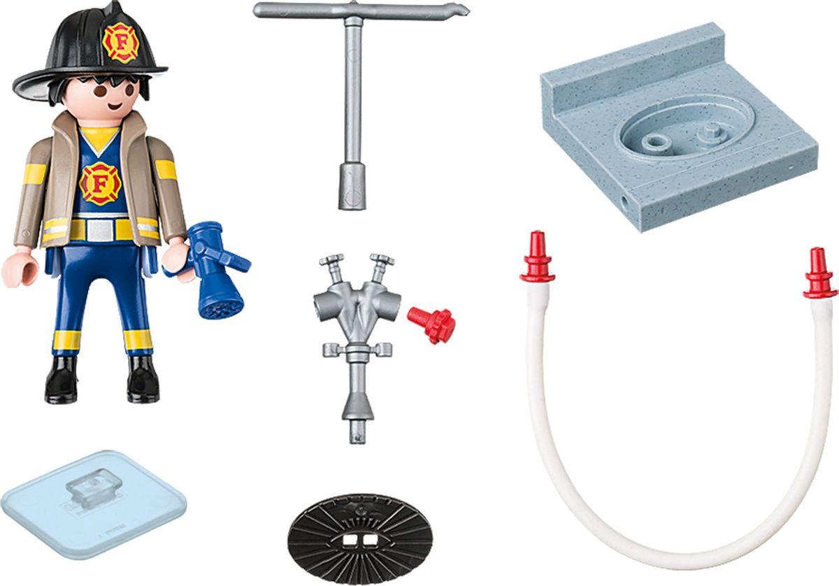 Playmobil Игровой набор Пожарный с гидрантом playmobil игровой набор пожарный квадроцикл