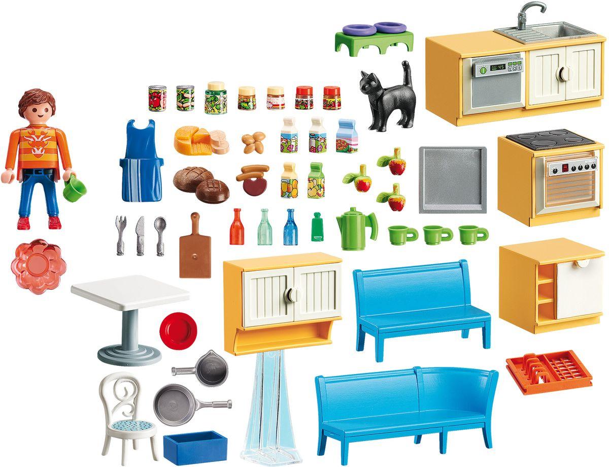 Playmobil Игровой набор Кукольный дом Встроенная кухня с зоной отдыха playmobil игровой набор кукольный дом детская комната для 2 детей