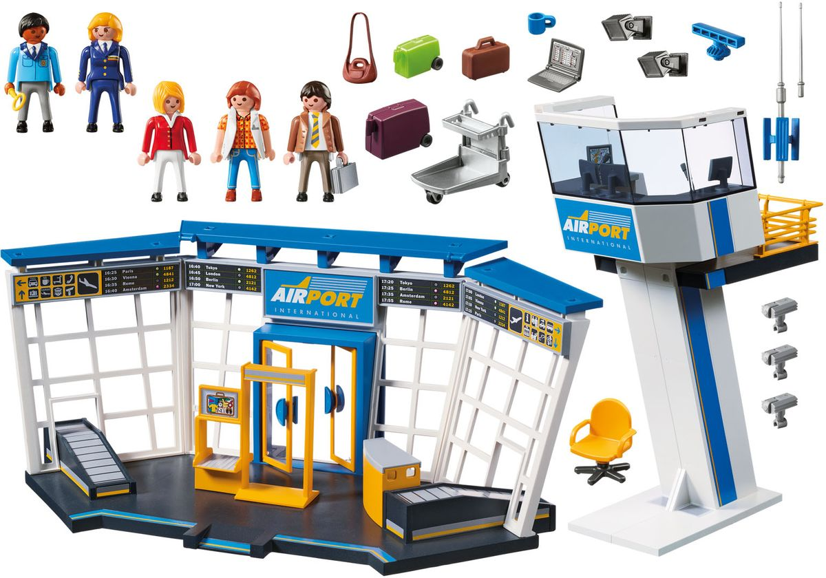 Playmobil Игровой набор Аэропорт с диспетчерской вышкой ролевые игры игруша игровой набор продукты i793595