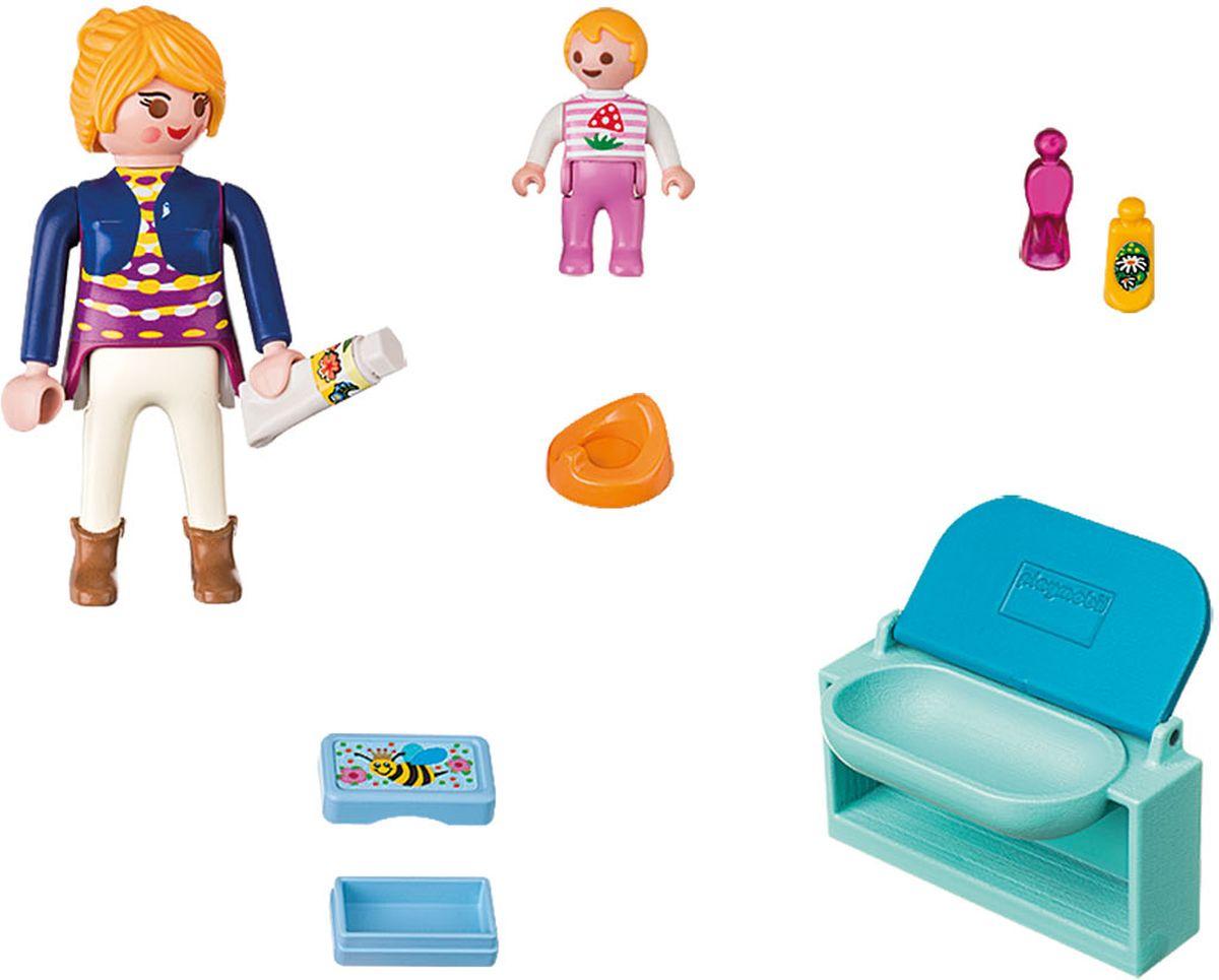 Playmobil Игровой набор Мама с ребенком и пеленальным столиком