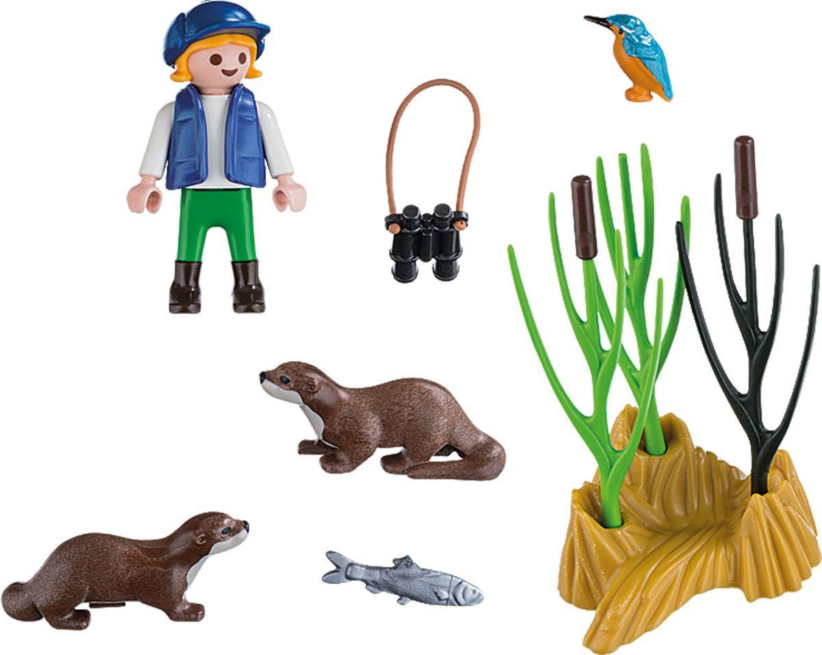 Фото Playmobil Игровой набор Молодой исследователь с выдрами