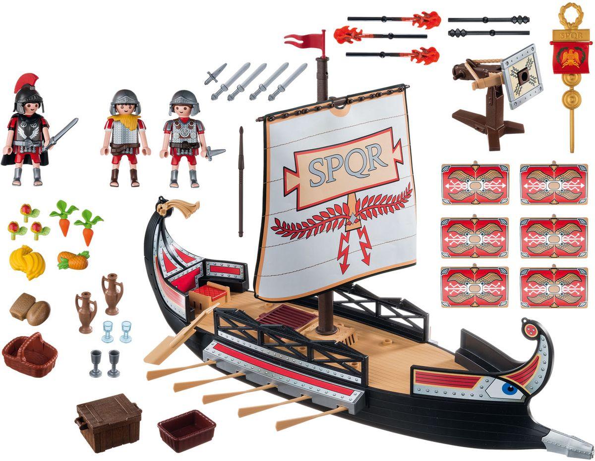 Playmobil Игровой набор Римляне и египтяне Корабль Римских воинов playmobil игровой набор римляне и египтяне римское войско