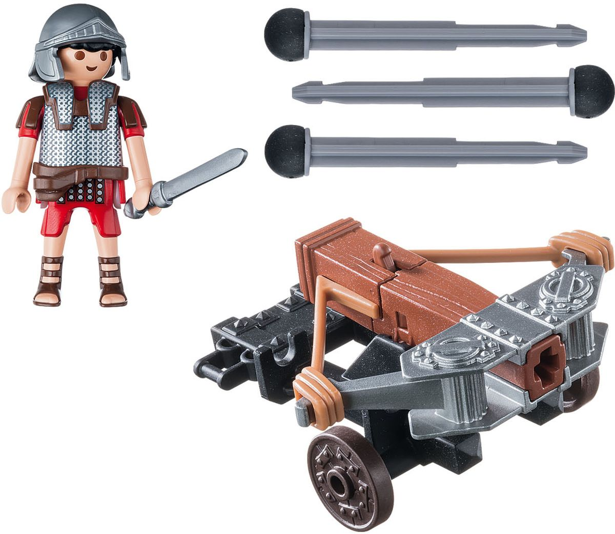 Playmobil Игровой набор Римляне и египтяне Легионер с баллистой playmobil игровой набор в поисках приключений лодка с браконьерами