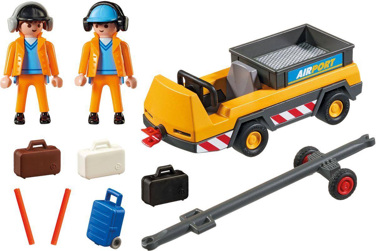 Playmobil Игровой набор Буксир самолета с наземной командой - Игровые наборы