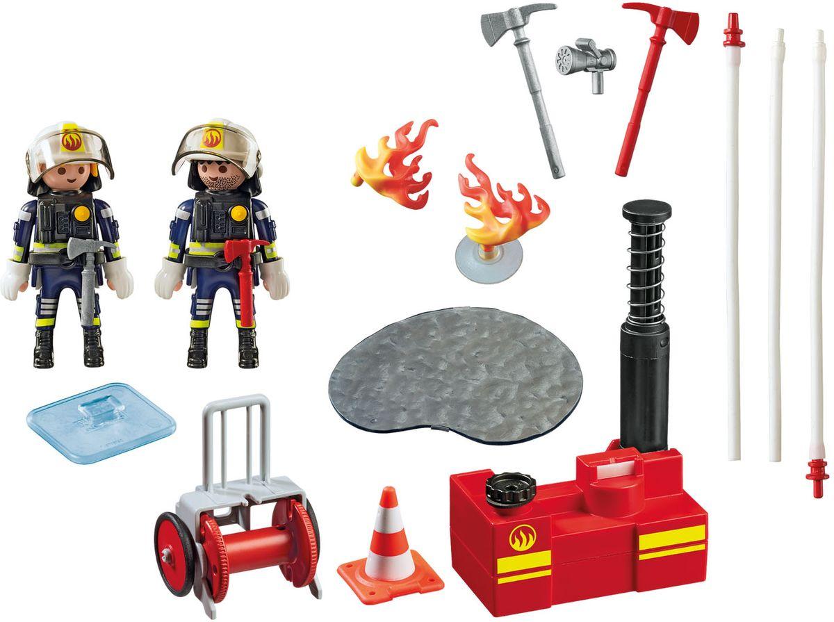 Playmobil Игровой набор Операция по тушению пожара с водяным насосом playmobil спасатели с носилками