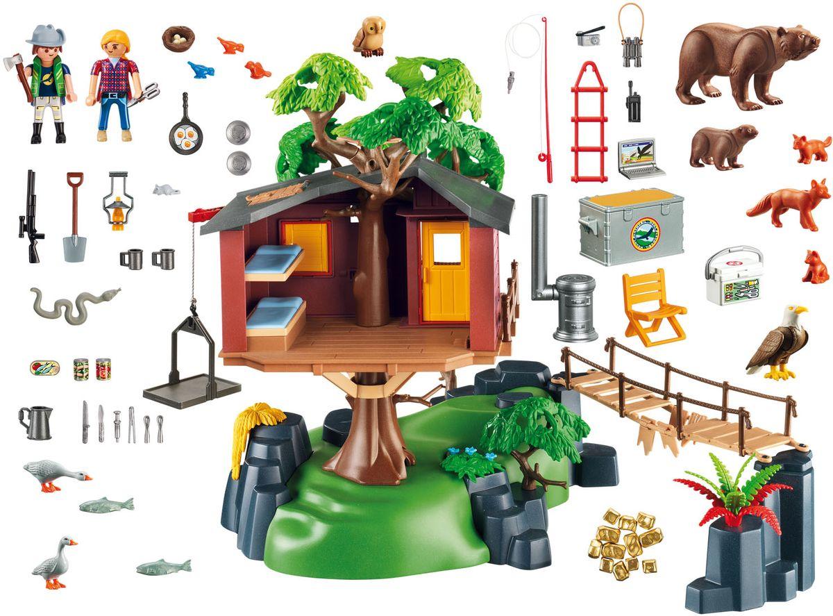 Playmobil Игровой набор В поисках приключений Дом на дереве машинки playmobil в поисках приключений пикап с лодкой