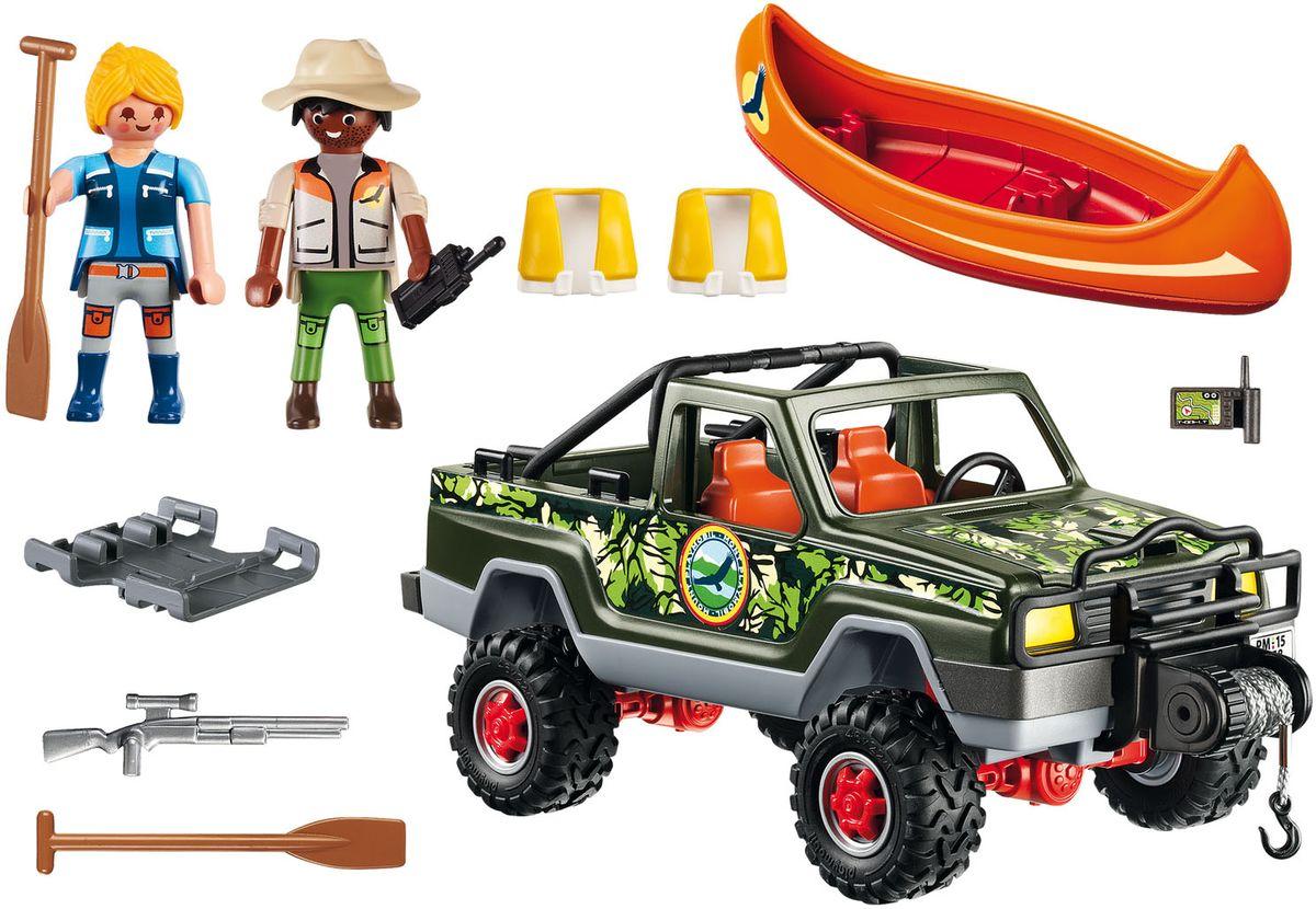 Playmobil Игровой набор В поисках приключений Пикап с лодкой фэшн и стиль знаменитость на красной дорожке playmobil
