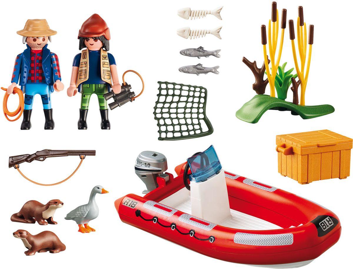 Playmobil Игровой набор В поисках приключений Лодка с браконьерами playmobil игровой набор девочка с морскими свинками