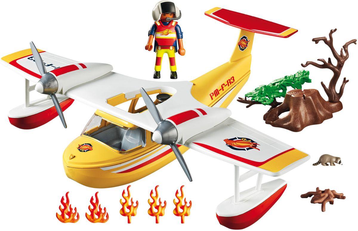 Playmobil Игровой набор В поисках приключений Самолет борется с огнем машинки playmobil в поисках приключений пикап с лодкой