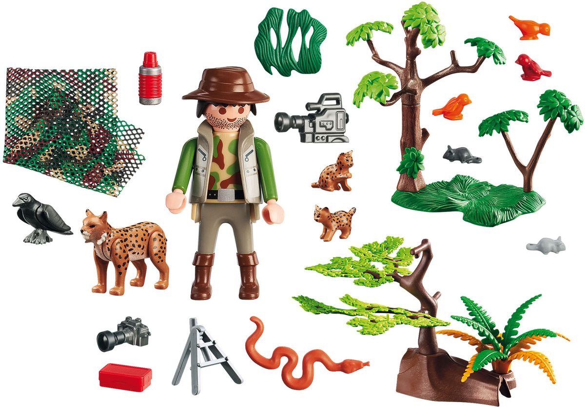 Playmobil Игровой набор В поисках приключений Семья рысей с кинооператором зоопарк семья окапи playmobil