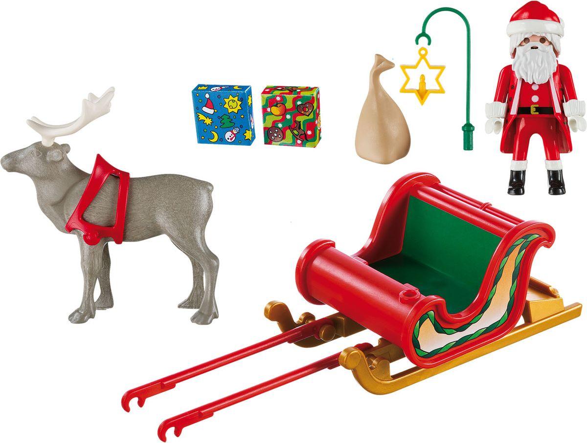 Playmobil Игровой набор Рождество Санта в санях с северным оленем фэшн и стиль знаменитость на красной дорожке playmobil