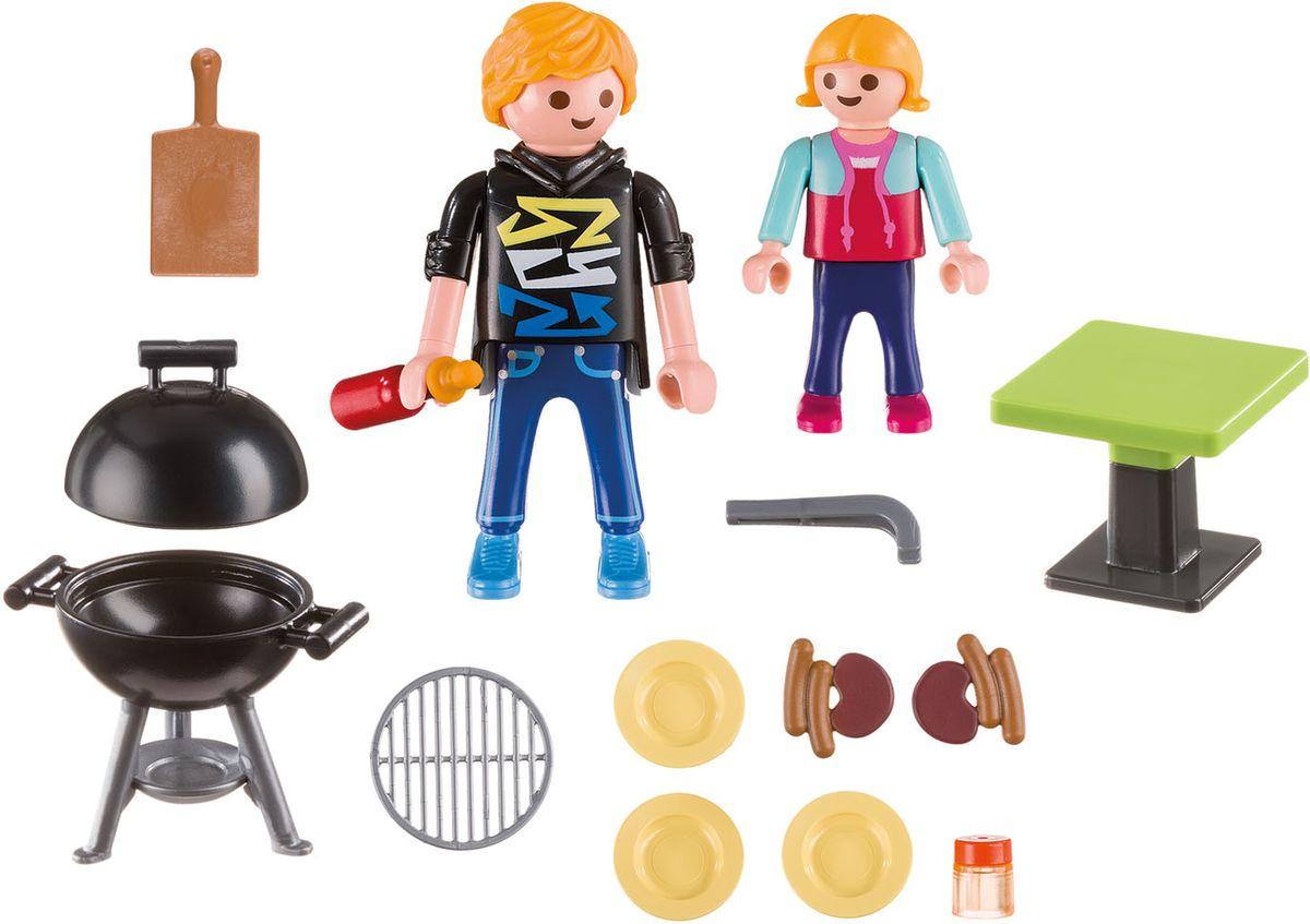 Playmobil Игровой набор Отдых с барбекю playmobil® playmobil 5289 секретный агент мега робот с бластером